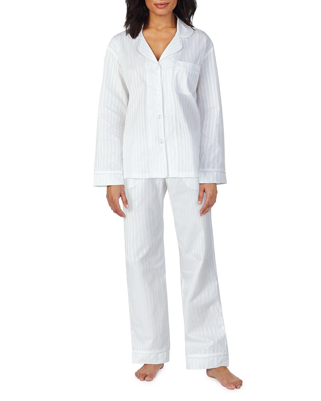 3D Striped Long-Sleeve Cotton Pajama Set