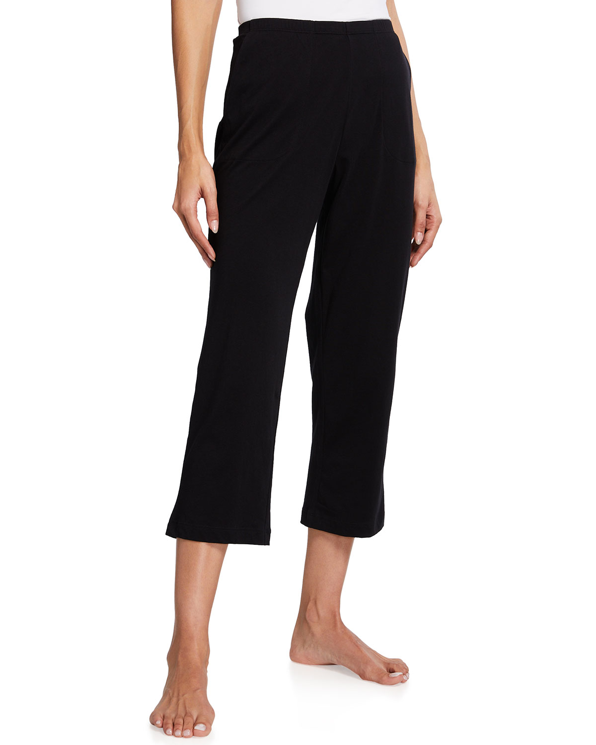 Skin CARLYN PIMA COTTON CROPPED PANTS