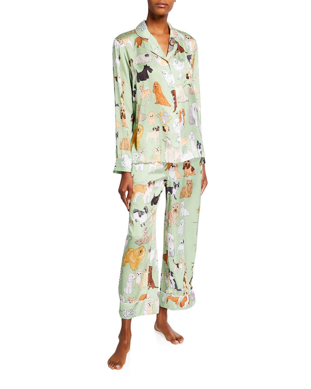 Crufts Dog Print Wide-Leg Pajama Set