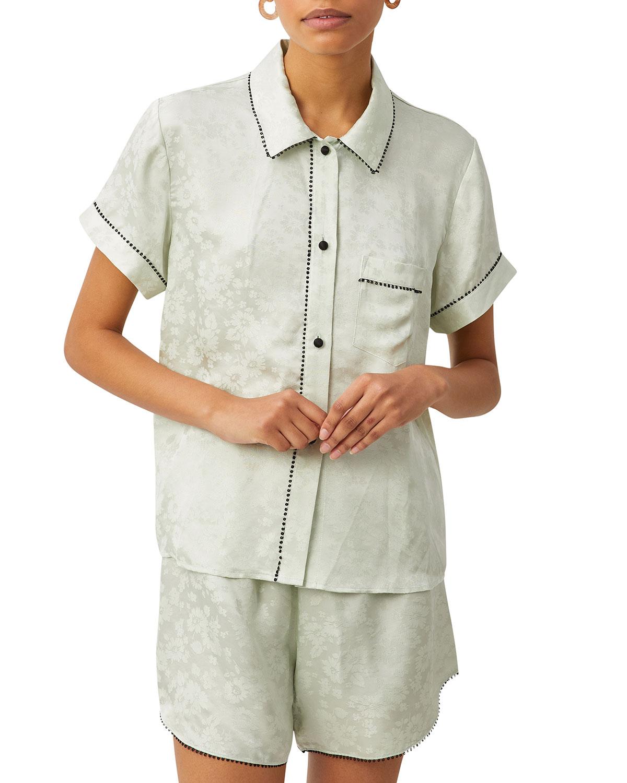 Tami Floral Jacquard Pajama Top