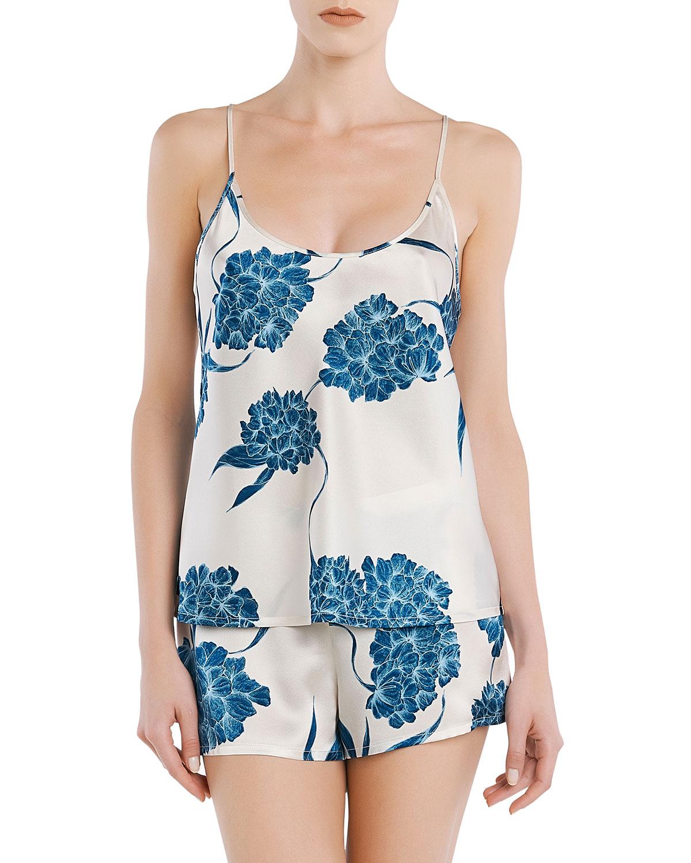 Floral Silk Cami/Short Pajama Set