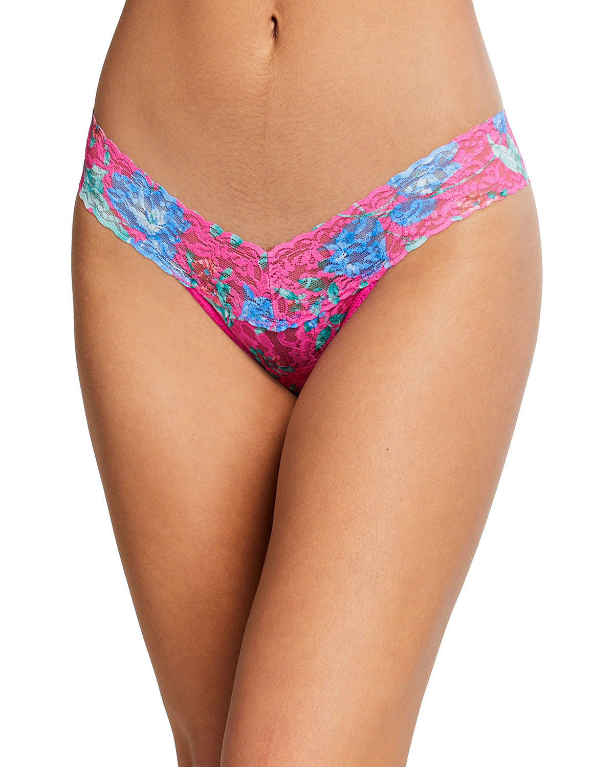 Hanky Panky ELECTRIC GARDEN LOW-RISE SIGNATURE LACE THONG