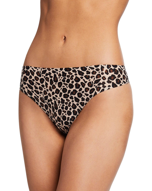 Soft Stretch Leopard Print Thong
