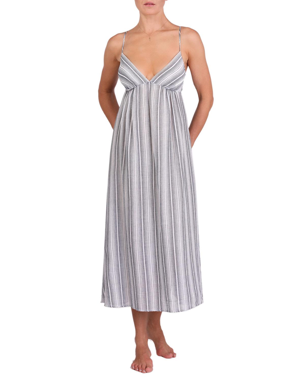 Olivia Striped Cotton Nightgown