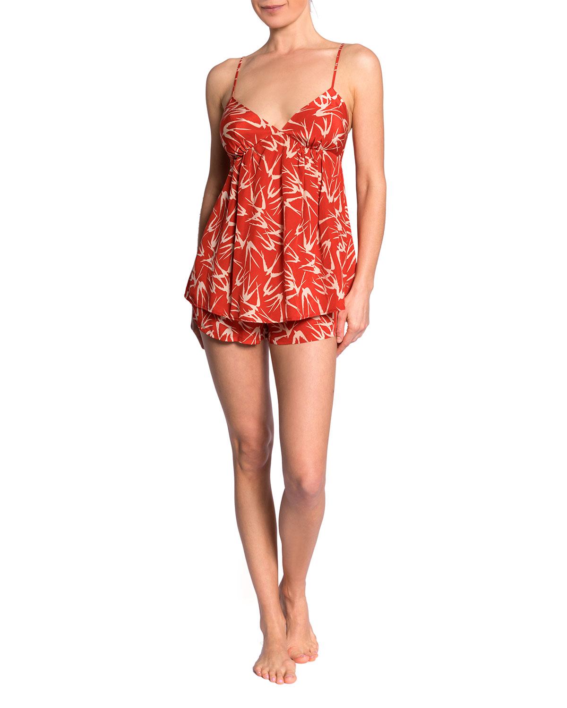 Parker Claire Bird-Print Pajama Set