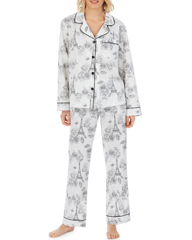 Eiffel Allure Classic Long-Sleeve Pajama Set
