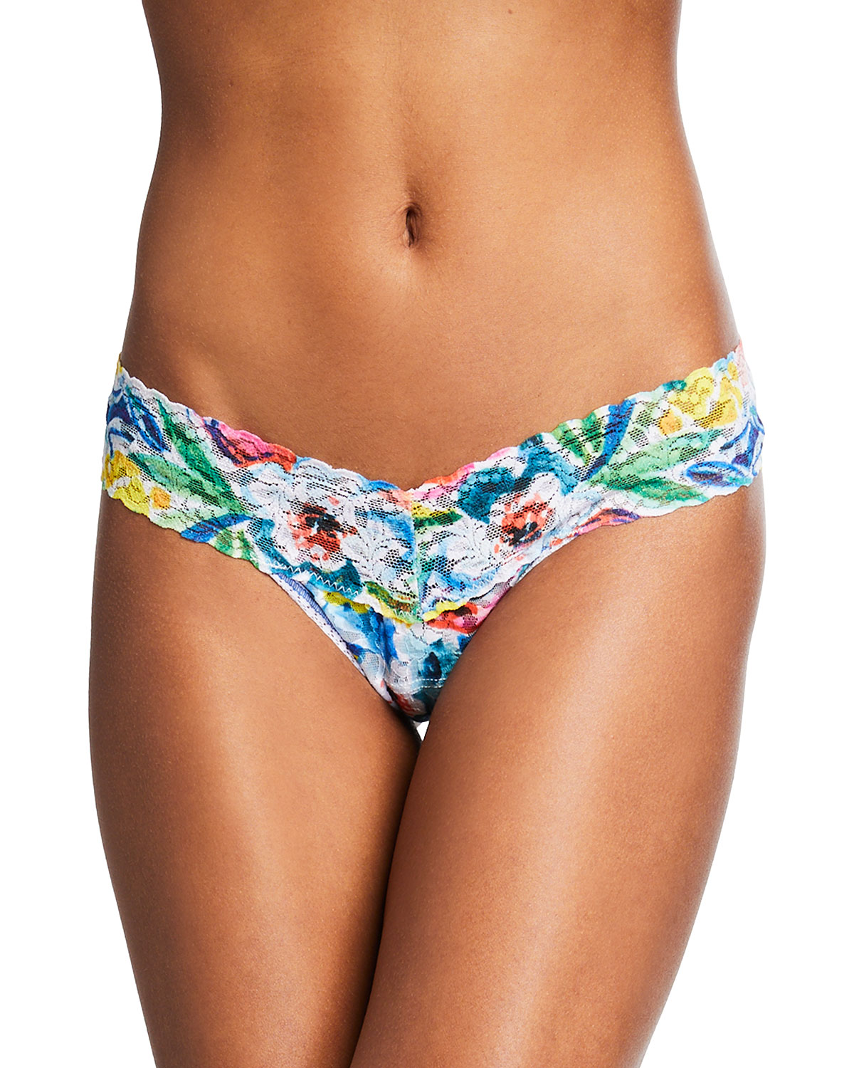 Brilliant Blooms Low-Rise Lace Thong