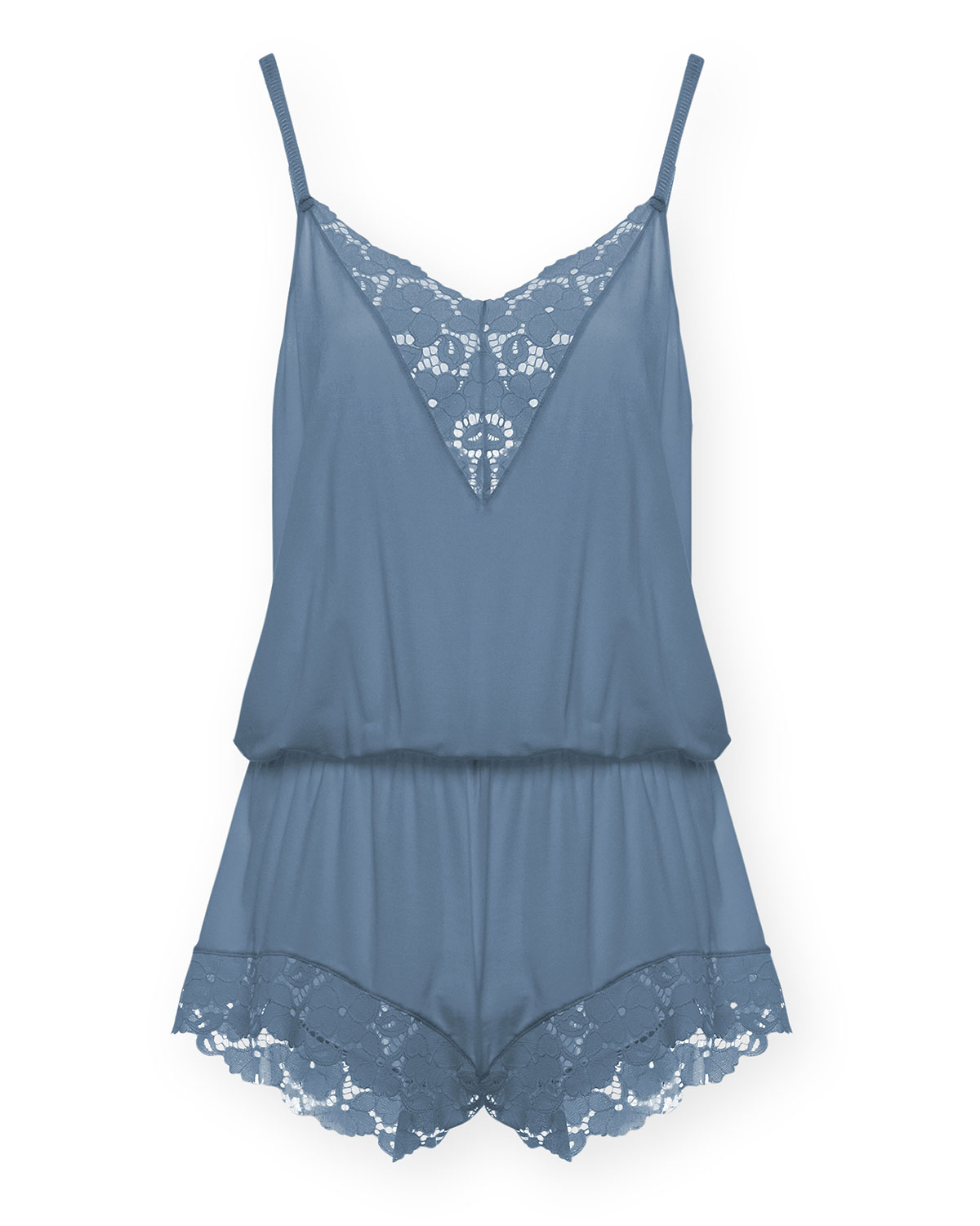 Naya Double Lace Inset Teddy Romper