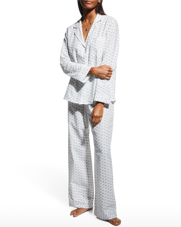 Nautico Printed Woven Long Pajama Set