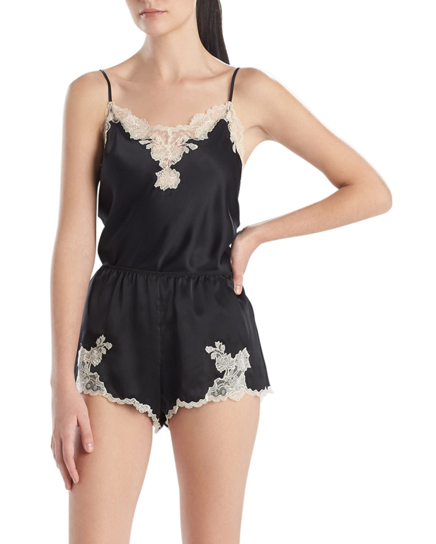 Lolita Lace-Trim Silk Shorts