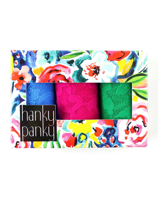 3-Pack Original-Rise Multicolor Lace Thongs