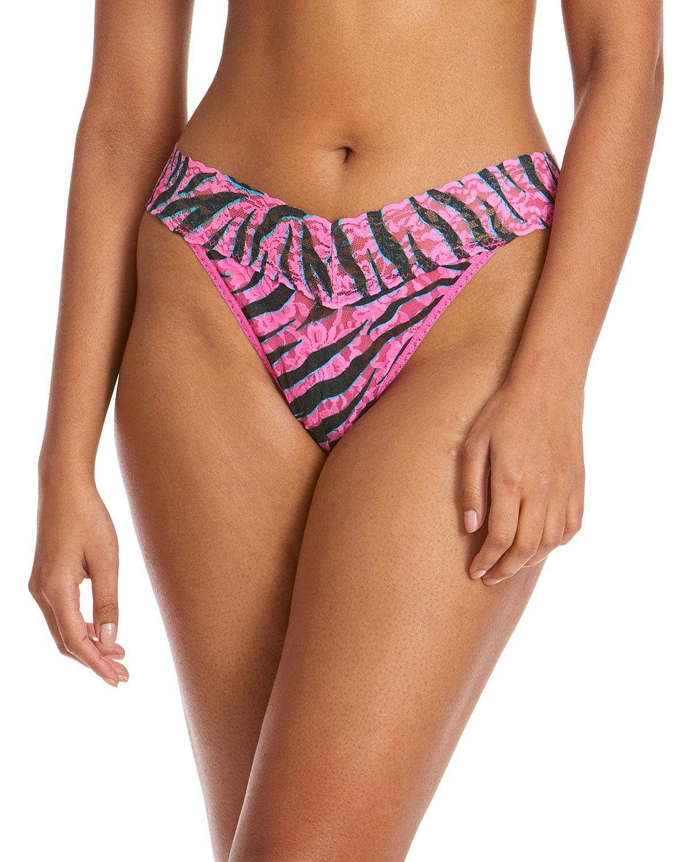 Animal Stripes Original-Rise Lace Thong