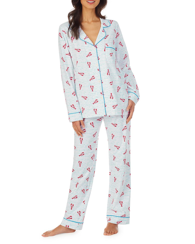 Lobsters Classic Long-Sleeve Pajama Set
