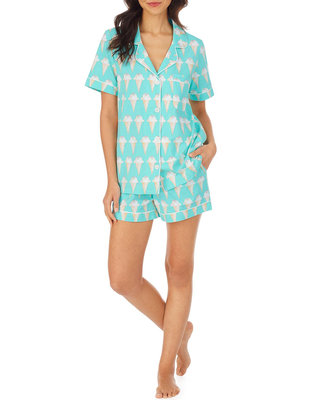 Treat Yourself Printed Short Pajama Set