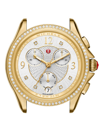 37mm Belmore Watch Head with Diamonds, Gold
