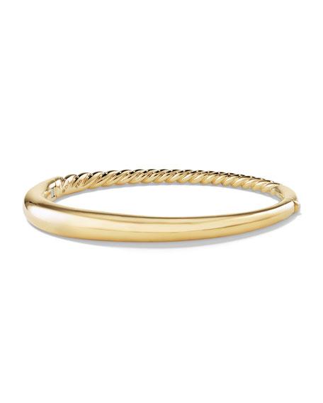 David Yurman 6.5mm Pure Form Smooth 18K Bracelet