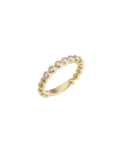 Covet 18K 3mm Diamond Stacking Ring, Size 7