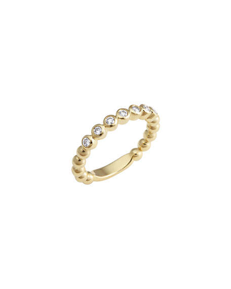Lagos Covet 18K 3mm Diamond Stacking Ring, Size 7