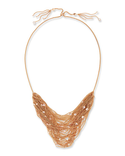 Anastasia Rose Golden Multi-Row Chain Necklace