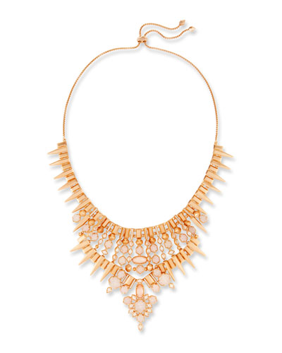 Seraphina Crystal Bib Necklace, Ivory