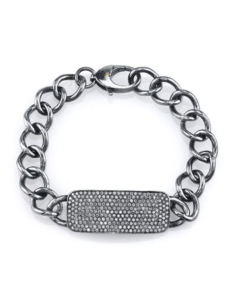 Sheryl Lowe Curb Chain Bracelet with Diamonds