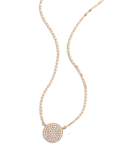 Femme Diamond Disc Charm Necklace