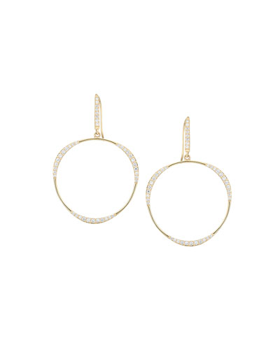Small Flawless LA Bangle Diamond Hoop Earrings