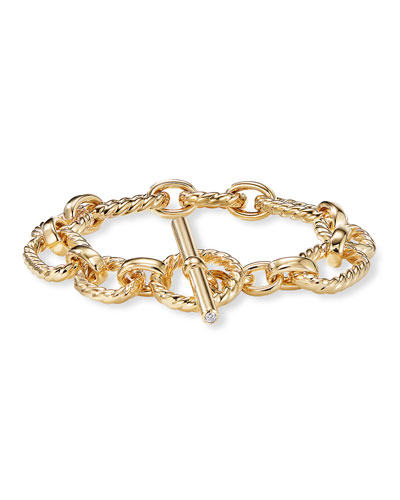 Quick Look David Yurman 12 5mm Cushion Link Bracelet In 18k Gold
