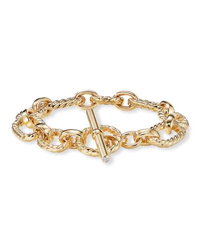 12.5mm Cushion Link Bracelet in 18K Gold