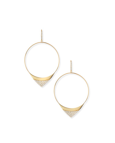 Large Electric Diamond Hoop Earrings