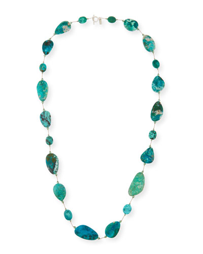 Chrysocolla & Turquoise Station Necklace