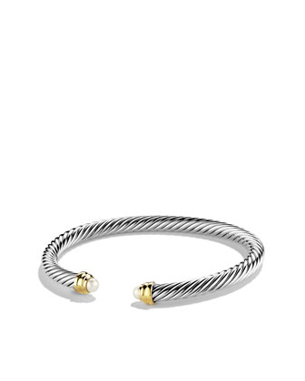 Cable Classics Collection Bracelet, Pearl, 5mm