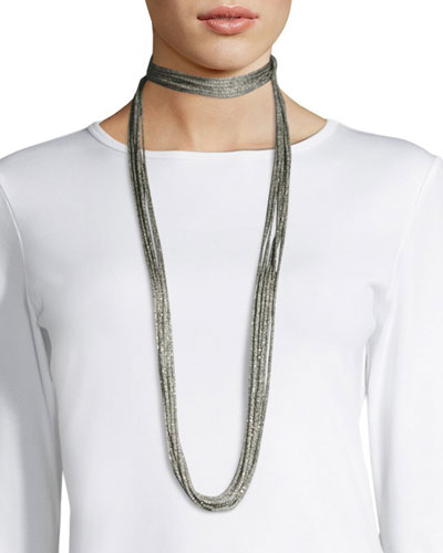 Tea Long Mesh Necklace, 18