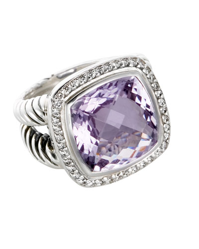 14mm Lavender Prasiolite Albion Ring