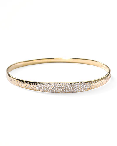 Stardust Wide Pave Diamond Gold Bangle