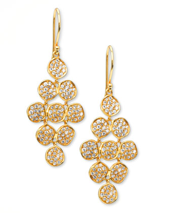 Stardust Flower Cascade Diamond Earrings