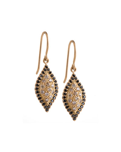 Scalloped Pave Diamond Marquise Earrings