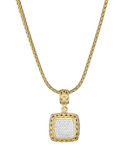 Gold Pave Diamond Medium Pendant