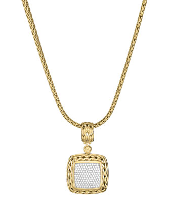Gold Pave Diamond Medium Pendant