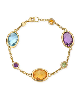 Eternal 18k Gold Multi-Stone Bracelet