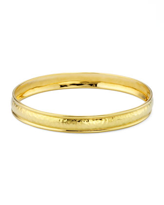 Goddess 18k Gold Hammered #1 Bangle