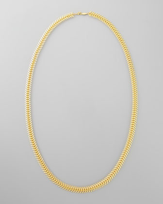 Long Scale Chain Necklace