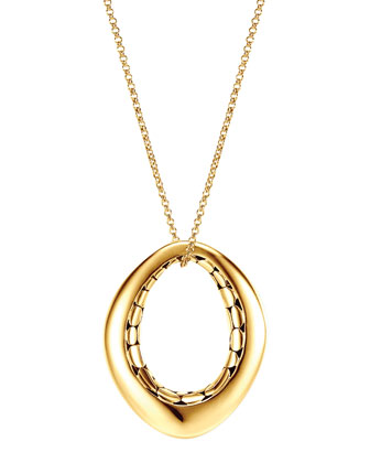 Kali 18k Gold Drop Pendant Necklace