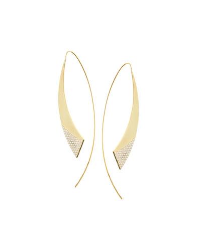 Large 14K Flawless Glossed Hooked on Hoops Earrings