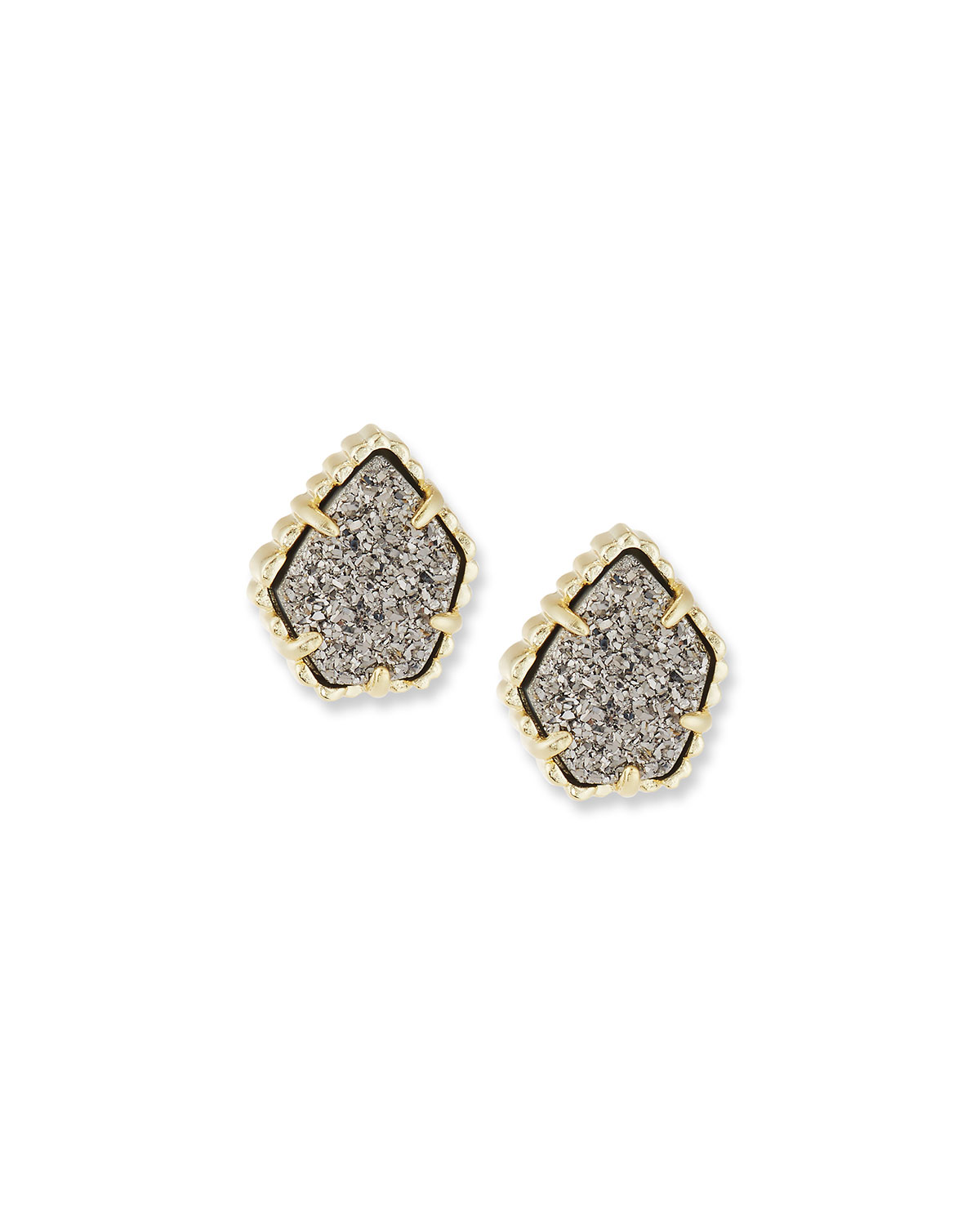 Tessa Druzy Button Earrings