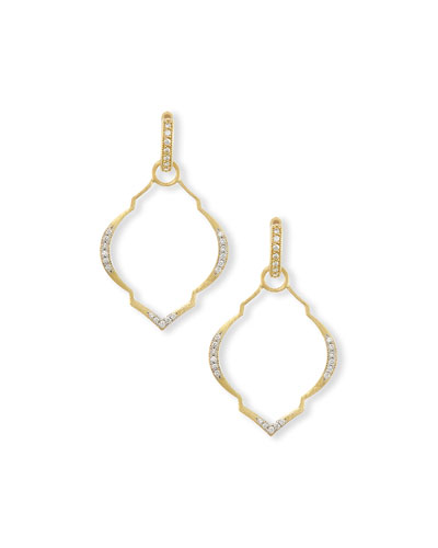 JUDE FRANCES Casablanca Moroccan Diamond & 18K Yellow Gold Earring Charm Frames