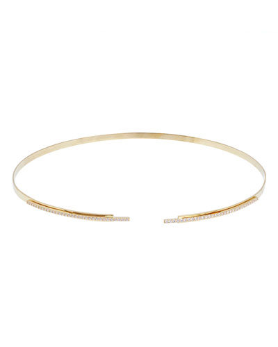 Flawless 14K Gold Stacked Choker Necklace with Diamonds
