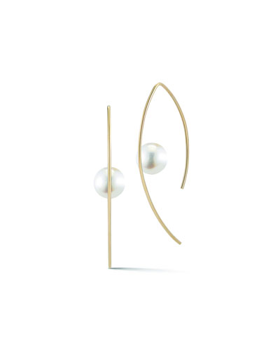 Pearl Marquis Hoop Earrings