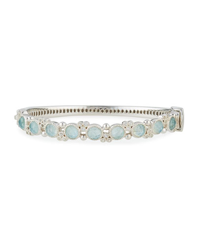 Encore Provence Round Labradorite & Quartz Bangle with Diamonds