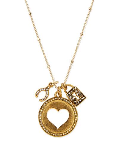 Heart Talisman Pendant Necklace, 32